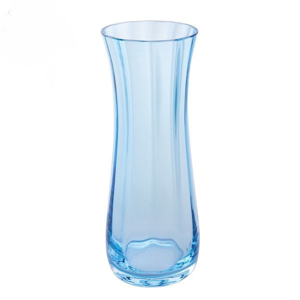 Dartington Crystal Florabundance Colours Bluebell Aqua Vase