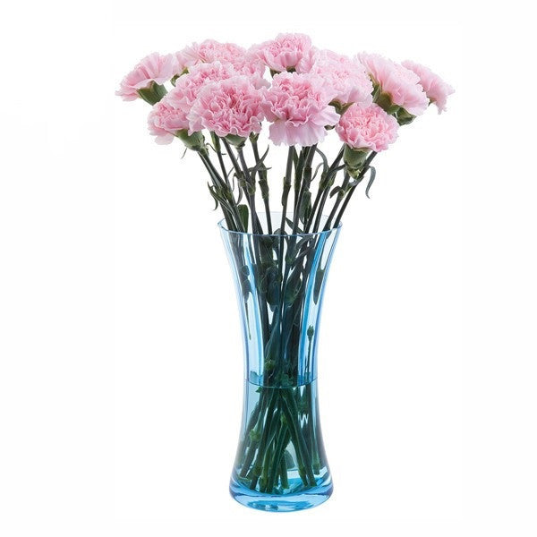 Dartington Crystal Florabundance Colours Carnation Aqua Vase