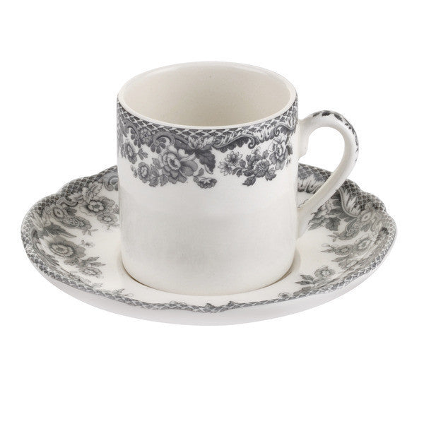 Spode Delamere Rural Coffee Cup and Saucer 0.09L