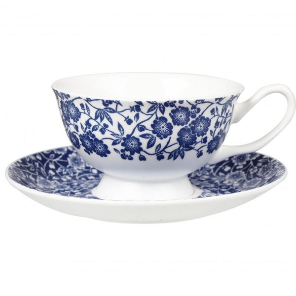 Churchill China Blue Story Grace Calico Teacup and Saucer 0.24L