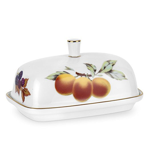 Royal Worcester Evesham Gold Covered Butter Dish 16.5cm by 11cm
