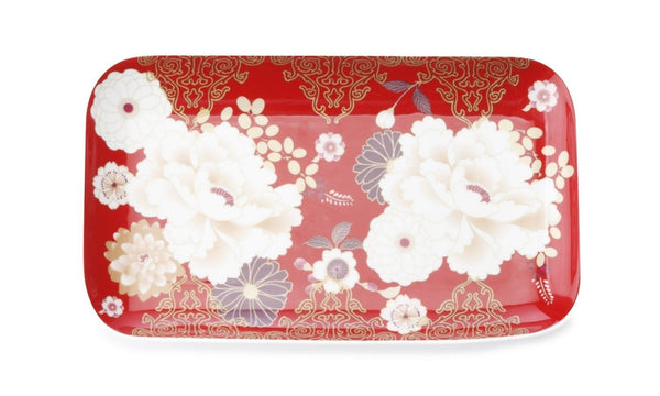 Maxwell and Williams Clearance Kimono Cake Tray 29.5*15cm Red