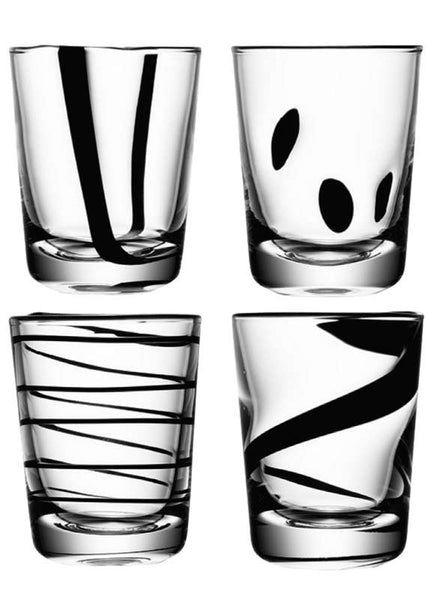 LSA Jazz Black Tumblers 0.25L (Set of 4)