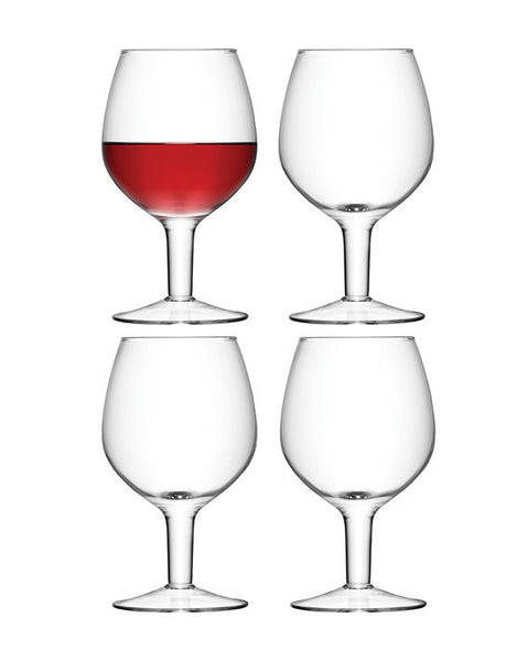 LSA Wine Clear Set of 4 Wine Glasses 450ml