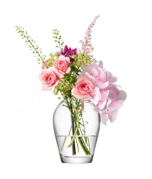 LSA Flower Clear Mini Bouquet Vase 9.5cm