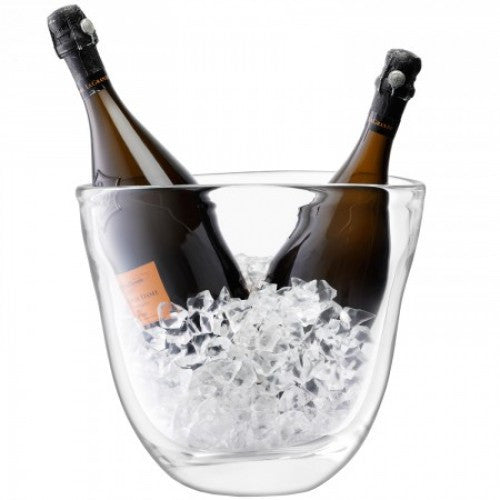 LSA Celebrate Clear Dual Ice Bucket 27cm