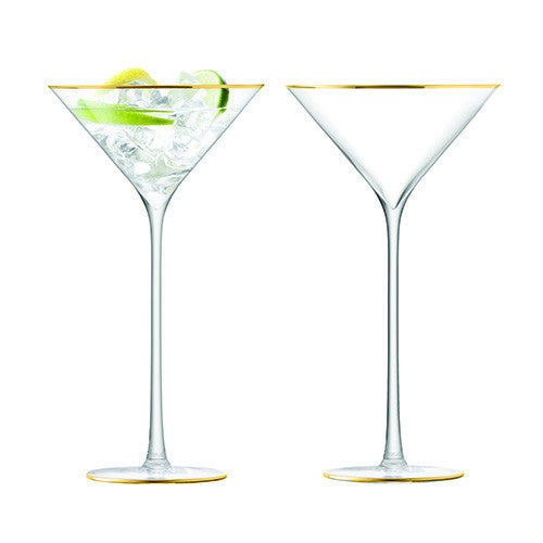LSA Celebrate Gold Martini Glass 0.23L (Pair)