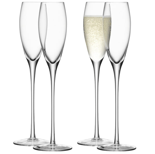 LSA Wine Clear Champagne Flute 0.20L (Set of 4)