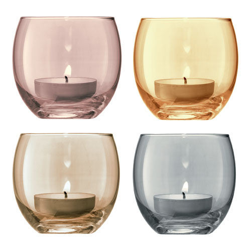 LSA Polka Metallics Tealight Holder 6.5cm (Set of 4)