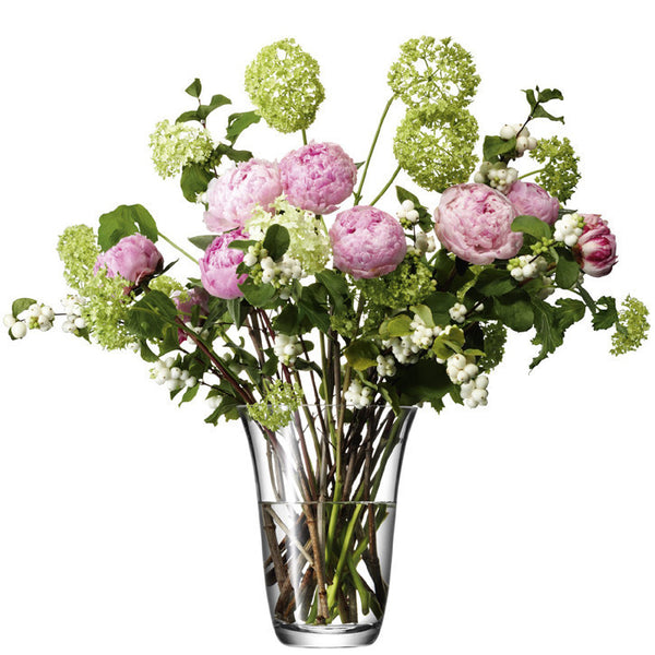 LSA Flower Clear Open Bouquet Vase 23cm