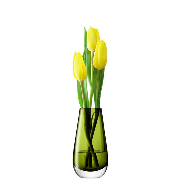 LSA Flower Colour Olive Vase 14cm