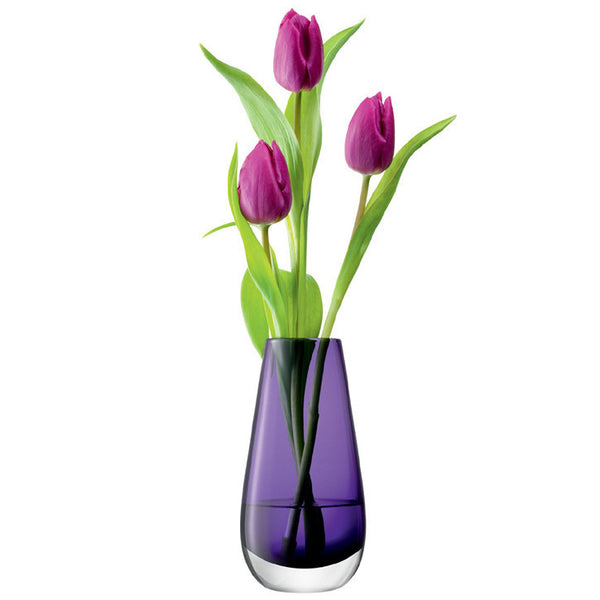 LSA Flower Colour Violet Vase 14cm