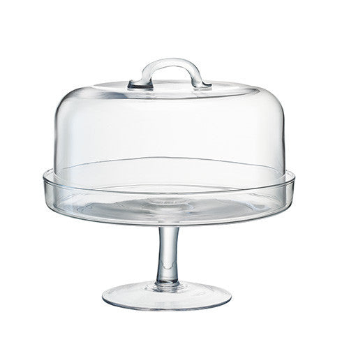 LSA Serve Clear Cake Stand 26.5cm