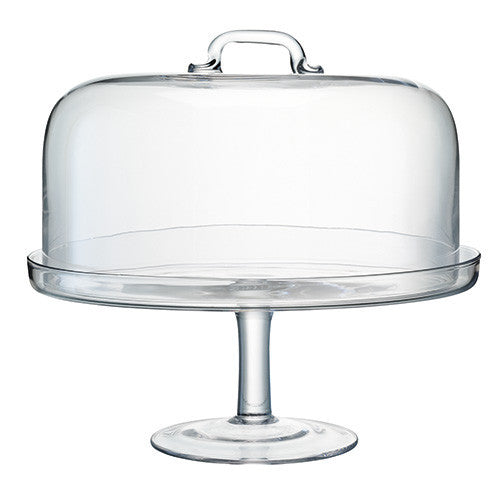 LSA Serve Clear Cake Stand 34.5cm