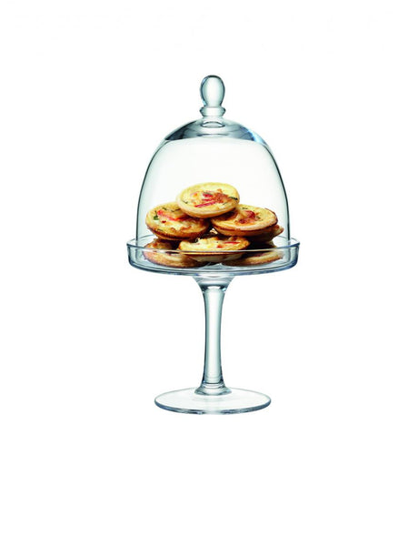 LSA Serve Clear Cake Stand 15cm
