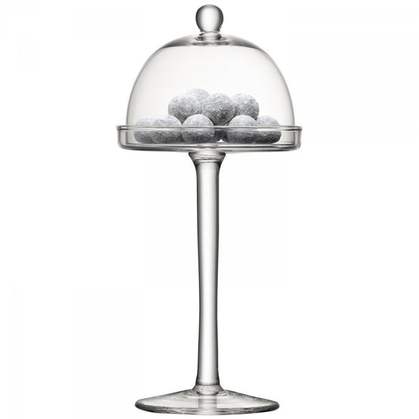 LSA Vienna Clear Cake Stand 23cm by 34.5cm