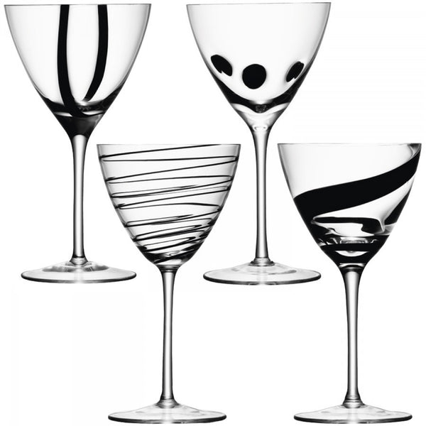 LSA Jazz Black Wine Glass 0.40L (Set of 4)