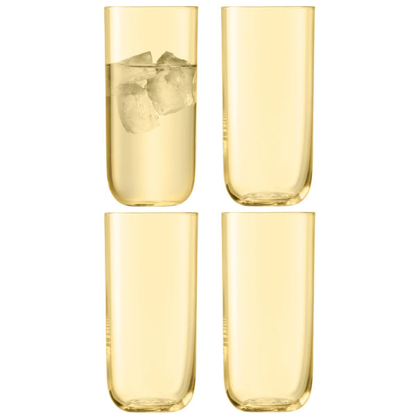 LSA Centro Lemon Highball Tumblers 490ml (Set of 4)