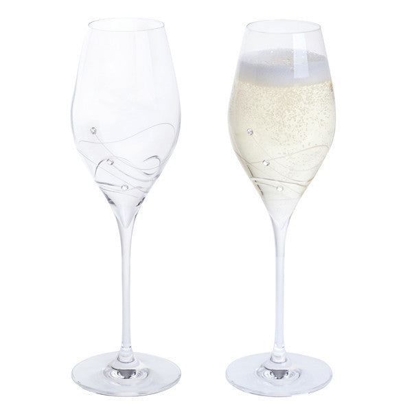 Dartington Crystal Glitz Prosecco Glass 0.32L (Pair)