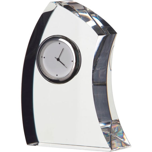 Dartington Crystal Medium Crescent Clock 11cm