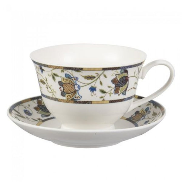 Churchill China Hidden World Indian Silk Teacup And Saucer