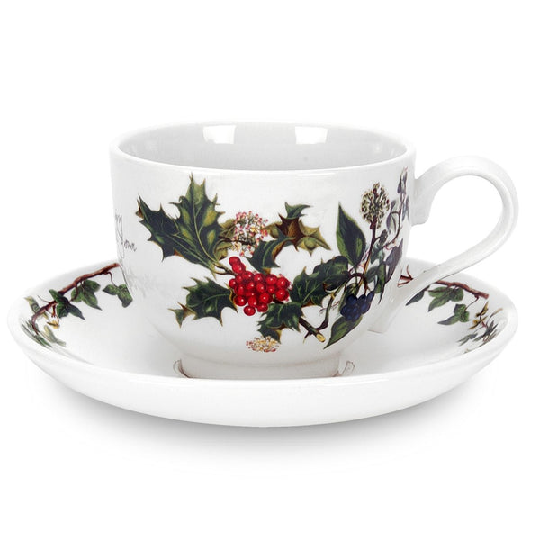 Portmeirion Holly And Ivy Teacup and Saucer 0.2L