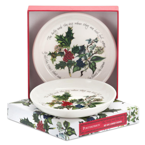 Portmeirion Holly And Ivy Sweet Dishes 10cm (Set of 2)