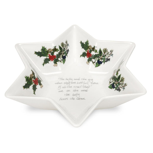 Portmeirion Holly And Ivy Deep Star Dish 20cm [C]