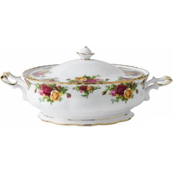 Royal Albert Old Country Roses Covered Vegetable Dish 1.4L