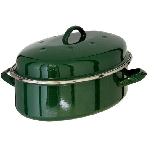 Judge Induction Green Oval Roaster 5.2L