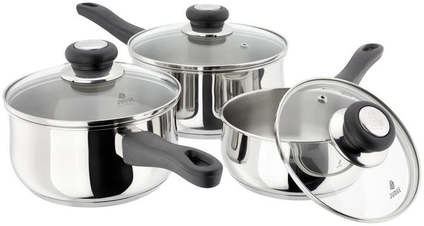 Judge Vista 3 Piece Saucepan Set (14, 16, 18cm)
