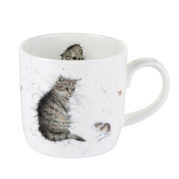Royal Worcester Wrendale Designs Cat and Mouse Mug 0.31L