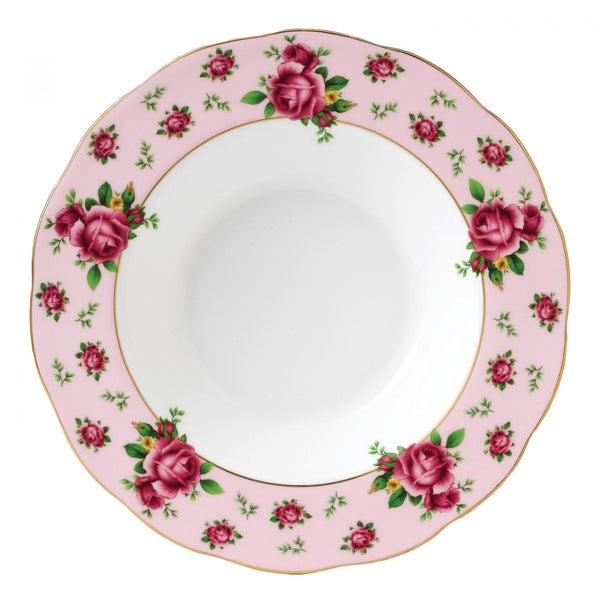 Royal Albert New Country Roses Pink Vintage Soup Plate 24cm