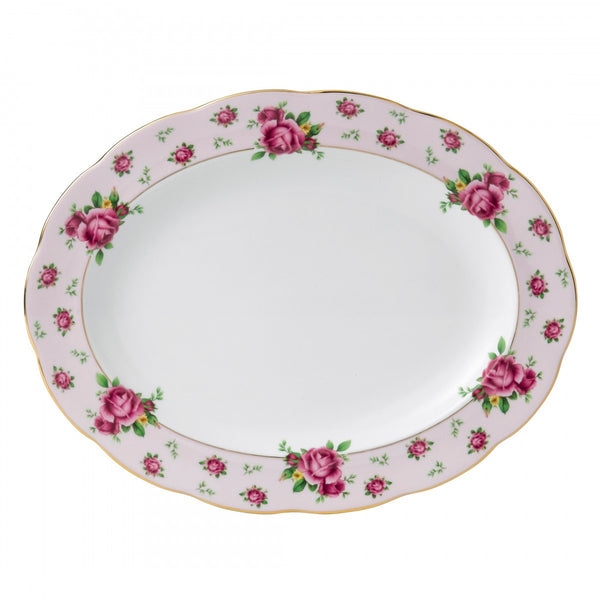Royal Albert New Country Roses Pink Vintage Oval Platter 33cm