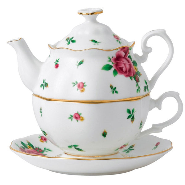 Royal Albert New Country Roses White Teapot for One