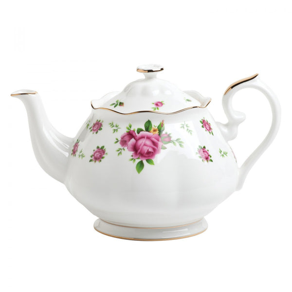 Royal Albert New Country Roses White Vintage Teapot 1.25L