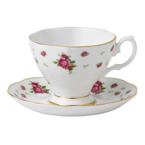 Royal Albert New Country Roses White Espresso Cup and Saucer