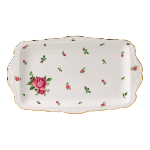 Royal Albert New Country Roses White Vintage Sandwich Tray