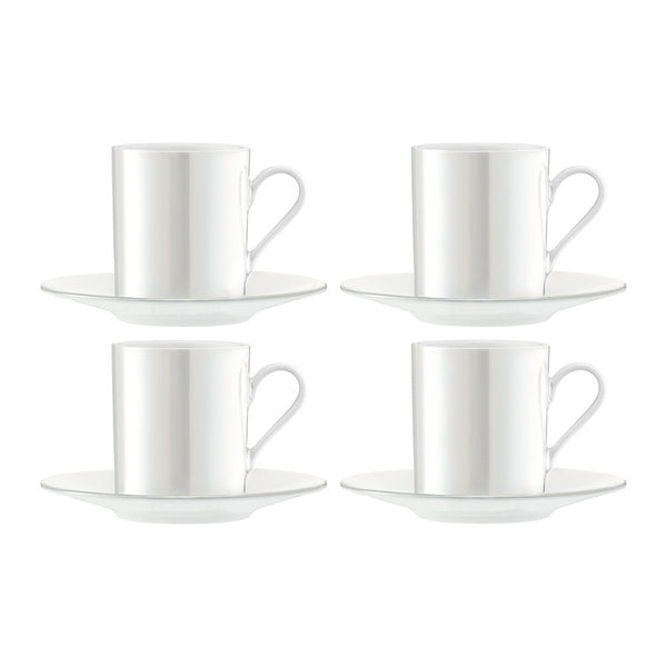 LSA Pearl Espresso Cup and Saucer 0.10L (Set of 4)