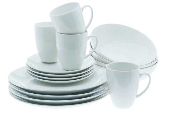 Maxwell and Williams White Basics 16 Piece Coupe Dinner Set
