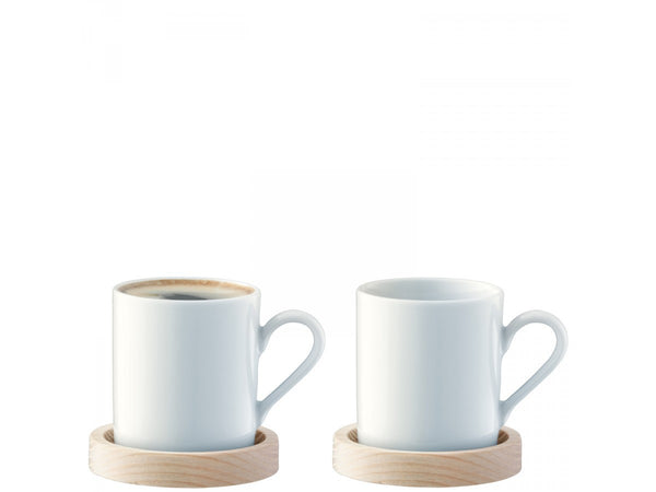 LSA Circle Espresso Cup and Saucer 0.09L (Pair)