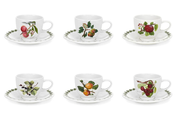 Portmeirion Pomona Espresso Cup and Saucer 0.10L (Set of 6)
