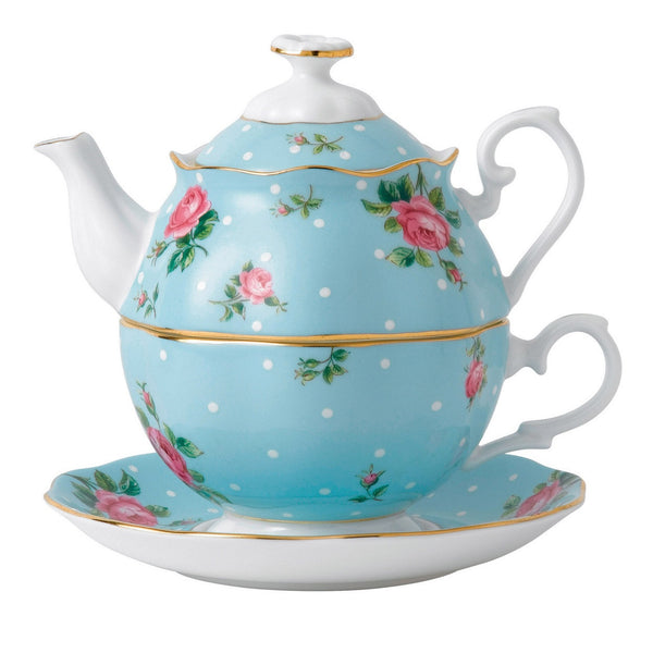 Royal Albert Polka Blue Teapot for One