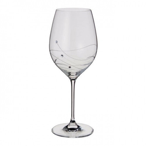 Dartington Crystal Glitz Red Wine Glass 0.52L (Pair)