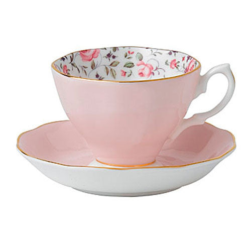 Royal Albert New Country Roses Confetti  Vintage Teacup and Saucer