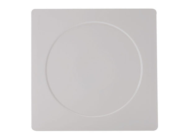 Maxwell and Williams White Basics Metrix Square Platter 30.5cm Round