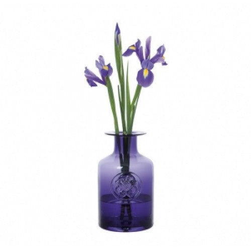 Dartington Crystal Flower Bottles Medium Anemone Amethyst Vase 20cm