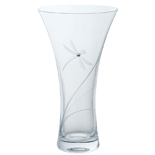 Dartington Crystal Glitz Large Dragonfly Vase 25cm