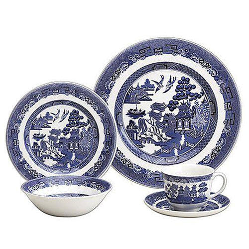 Churchill China Blue Willow 20 Piece Boxed Set