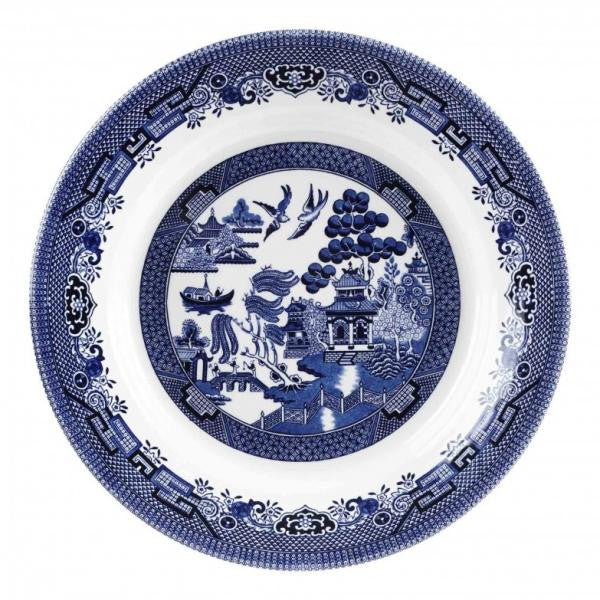 Churchill China Blue Willow Pasta Dish 28cm